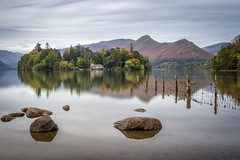 Derwent Water (Rich Walker Photography) Tags: mountain island sky water morning england greatbritain longexposures longexposure lake keswick eos80d canon landscapephotography landscape cumbria lakedistrict derwentwater