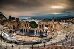 Etna - Teatro Antico - Taormina (Ali Yamaner) Tags: etna taormina greek teather teatro antico di view landscape outddor sea italy sicily sicilia greatphotographers
