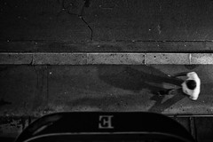 E (Al Fed) Tags: 20180907 france guadeloupe paris e hotel man above bw night pavement concrete deleteme deleteme2 deleteme3 deleteme4 deleteme5