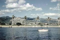 Ala Wai Canal U-drive 1950s (Kamaaina56) Tags: 1950s waikiki hawaii honolulu alawai slide