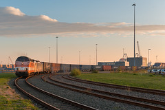 2018.10.11_12392_Houtrakpolder_RFO 9802 + BLS 186109 (rcbrug) Tags: tr40027hrpkn amsterdam amsterdamwesthaven houtrakpolder melzo containershuttle containertrein 9802 rfo bls 186 zonsopkomst sunrise