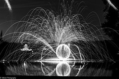 Light painting (vmonk65) Tags: bw blackwhite blackandwhite lichtmalerei lightpainting hamburg stadtparkhamburg