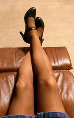 Coffee Leggs (Terri James) Tags: legs leggs crossdresser crossdress crossdressing coffee cd transvestite tights tv nylons sheer sheerenergy skirt support hose heels pantyhose phose