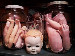 Happy Halloween! (jim.choate59) Tags: halloween scary jar dolls creepy jchoate shelf head dollparts limbs spooky