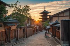 Sunset In Kyoto (lestaylorphoto) Tags: japan kyoto pagoda houses path old street sunset travel nikon d610 leslietaylor lestaylorphoto yasaka ninenzaka 日本 京都 ニコン 旅行