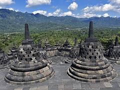 Borobudur (RobertLx) Tags: buddhist temple buddhisttemple java indonesia asia candiborobudur borobudur green landscape stupa mountain hill clouds unesco