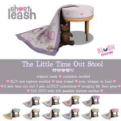 .:Short Leash:. The Little Time-Out Stool @ Blush! (Short Leash // original mesh & virtual kink) Tags: shortleash secondlife blush babygirl ddlg adult short leash