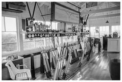 Bradford Junction signal box (Nodding Pig) Tags: bradfordjunction signalbox railway wiltshire england greatbritain uk 1988 film scan monochrome negative 35mm ilfordhp5 pentaxsp1000 19880000003101border