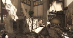 Fall In White.... (kellytopaz) Tags: virtual living second life interior design white vintage