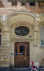 7 rue Edouard Teutsch (Zéphyrios) Tags: strasbourg alsace grandest nikon d7000 porte door artnouveau jugendstil xx waldemarosterloff arche vitrail bois wood oculus encorbellement travée