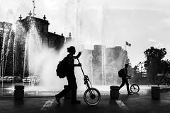 A Silhouette (Frederik Trovatten) Tags: silhouette bnw streetphotography photography black white monochrome noir bike x100f fuji fujifilm blackandwhite