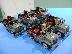 Custom Lego WW2 Willy Jeep updated version (TekBrick) Tags: lego custom ww2 usa wlly jeep parts bricks war minifigure wheels riffle moc