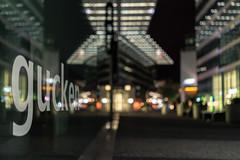 [gucken] (MaSiCiu) Tags: ifttt 500px city street light rush hour pedestrian zebra crossing station underground walkway elevated stoplight office building reflection reflections night nightscape skyline skyscraper window glass