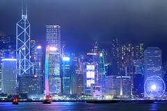 Hong Kong skyline with two traditional junks (jbarry5) Tags: hongkong hongkongskyline travelphotography travel skyline architecture china hongkongjunkboat