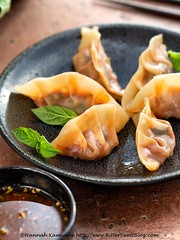 Puttanesca Potstickers 4 (Bitter-Sweet-) Tags: vegan food savory healthy snack appetizer potstickers dumplings pasta stuffed filled wontons wrappers gyoza homemade vegetarian tofu meatless italian puttanesca tomato olive basil fresh asian japanese easy oliveoil herb dipping sauce recipe diy