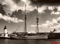 Sailing Ship (red.richard) Tags: sailing ship masts lighthouse port ibiza sea maritime