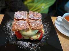 Strawberry Mille-Feuille (Long Sleeper) Tags: sweets dessert food cafe letaopathos cake strawberrymillefeuille fruit strawberry strawberries october otaru hokkaido japan dmcgx1