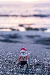 Time to get ready for Christmas (Ballou34) Tags: 2017 7dmark2 7dmarkii 7d2 7dii afol ballou34 canon canon7dmarkii canon7dii eos eos7dmarkii eos7d2 eos7dii flickr lego legographer legography minifigures photography stuckinplastic toy toyphotography toys pitonsaintleu saintpaul réunion re stuck in plastic ready christmas santa claus surf holiday sand beach water sea board