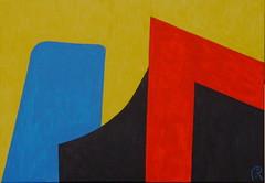 Ronchamp(Le Corbusier) by Jan Theuninck, 2018 (Gray Moon Gallery) Tags: chapellenotredameduhaut ronchamp lecorbusier jantheuninck france yellow red blue black bourgognefranchecomté hautesaône painting chapelle