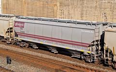 "FXE Covered Hopper Car No. 714023 in Kansas City, MO (""Righteous"" Grant G.) Tags: ferromex covered hopper car cars grain train trains railroad railway kansas city missouri fxe rolling stock"