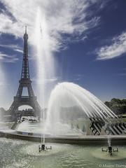 Jets sur la tour Eiffel (musette thierry) Tags: tour eiffel musette thierry d800 nikon nikkor eau jet fontaine ciel bleu paris france capital îledefrance europe