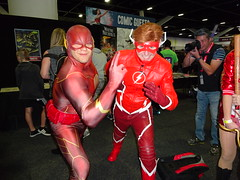 Flash Race - this Barry Allen looks confident (Sconderson Cosplay) Tags: oz comiccon sydney 2018 cosplay saturday international convention centre flash wally west barry allen fastest man alive