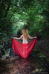 Sylvie (henrychristo27 (Christophe)) Tags: sensuality riviere nudeart nude rouge foret modele women shooting beauty beautiful