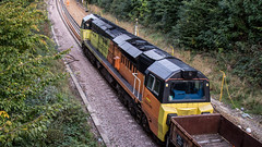70806 (JOHN BRACE) Tags: 2013 general electric erie pa usa class 70 co diesel loco 70801 station colas livery seen during track renewal works between crawley ifield photo taken from overdene drive road bridge looking towards