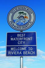 Welcome to Riviera Beach Florida Sign (formulanone) Tags: rivierabeach florida fl708