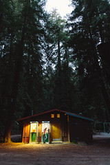 Night Calls (LauraJayneAustin) Tags: 2018 airstream california endlesscaravan lauraaustin soloroadtrip travel selfportrait bigsur light canon redwoods night pay phone forest