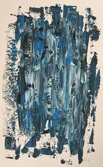 EKA2 M1 2018 Aleksandr Osvald August von Turro-Lebardov 06.09.2018 (2) 2018 2018-18 (aleksandroavtl) Tags: eka eka2 m estonia national colours colors pattern flag blue black white grey abstract abstractart abstractpainting art painting acrylic acrylicpainting acrylics contemporary contemporaryart artwork