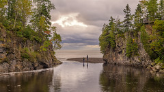 Fishing at Temperance (Paul Domsten) Tags: temperanceriver river statepark minnesota pentax lakesuperior northshore fishing autumn fall seasons clouds