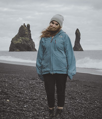 smol boi (JohnKendall) Tags: portrait rocks dreamscape vik iceland reynisfjara