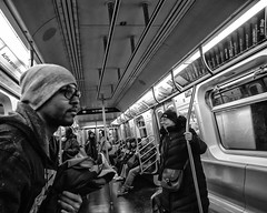 NYC, 2017 (Alan Barr) Tags: newyork newyorkcity nyc ny manhattan subway 2017 street sp streetphotography streetphoto blackandwhite bw blackwhite mono monochrome candid city people panasonic gx85
