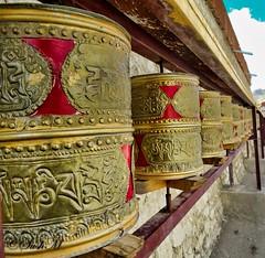 prayer wheel in Lamayuru monastery (Sush.kk) Tags: mountain monastery lamayuru leh ladakh lehladakh prayer wheel tibet culture