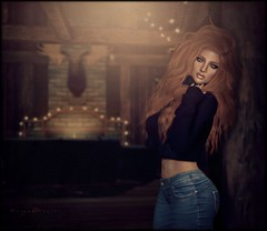 Warmth.... (morganmonroe1) Tags: lumipro2018 focusposes hillyhaalan hh blueberry tablauvivant izzies sweater home warmth ginger jeans redhead