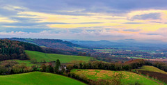 From The Malvern Hill (UK) (WorcesterBarry) Tags: landscape fields outdoors sky england travel trees city clouds light lines nature colour adventure