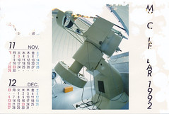 19920000_IMG_0005 (NAMARA EXPRESS) Tags: postcard photograph calendar paper telescope observatory memorial typhoons storm surge color japan film canon canoscan 9000f scanner scan namaraexp