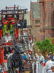 TEAM XOLO WITH CHURCH BACKGROUND (CloudBuster) Tags: liverpools dream royal de luxe streettheatre liverpool culture 2018 united kingdom france nantes giant spectacular