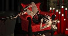 Doucereuse langueur (ℰżιℓι) Tags: cosmopolitan re su inker masoom cx avatar bento blaxium catwa dress event fashion foxy secondlife gothic candles red seat