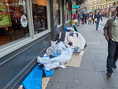 Charing Cross Road. 20181018T15-40-47Z (fitzrovialitter) Tags: england gbr geo:lat=5151137000 geo:lon=012830000 geotagged leicestersquare unitedkingdom peterfoster fitzrovialitter city camden westminster streets urban street environment london fitzrovia streetphotography documentary authenticstreet reportage photojournalism editorial daybyday journal diary captureone olympusem1markii mzuiko 1240mmpro microfourthirds mft m43 μ43 μft ultragpslogger geosetter exiftool rubbish litter dumping flytipping trash garbage beggar vagrant homeless