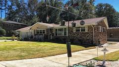 A Home on Crockett Drive | Marietta, Georgia (steveartist) Tags: home house brickstructure midcenturyranch ranchstyle lawn trees shrubs birdbath fence outdoorfurniture iphonese snapseed stevefrenkel
