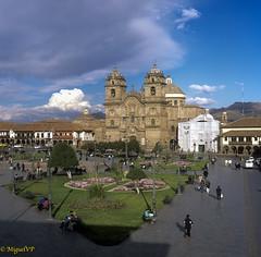 Cusco Plaza de Armas, Peru (MiguelVP) Tags: 6x6 plazacusco cityscape film tourism cathedral church peru