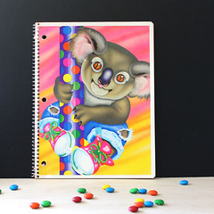 Koala. (Kultur*) Tags: vintage vintagenotepad koala lisafrank lisafrankdesign 1990sdesign neon trippy pink animal 1990s notebook schoolsupplies vintageschool