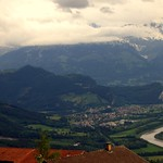 View from Triesenberg over the Rhine valley, Pizol (2844 m) and Glarus Alps thumbnail
