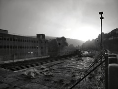 IMG_20180921_074634-01.jpeg (aderixon) Tags: railway station platform morning autumn rain