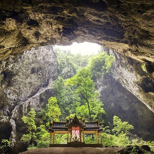 """The most common way people give up their power is by thinking they don't have any."" - Alice Walker _ The incredible Phraya Nakhon Cave in Khao Sam Roi Yot National Park about 45 mins south of Hua Hin, Thailand. _ The Kuha Kharuehat pavilion was built in"