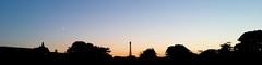 Paris Silhouette (MAKER Photography) Tags: paris france silhouette eifel tower moon sky golden hour leaves building clouds tree