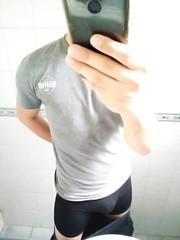 IMG_20180708_155012 (bulgeman4) Tags: bulge boxer shorts spandex lycra bike bulto