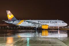 Thomas Cook Airlines EC-MVH HAJ at Night (U. Heinze) Tags: aircraft airlines airways airplane planespotting plane flugzeug haj hannoverlangenhagenairporthaj eddv nikon